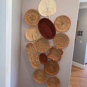 Boho wicker Basket wall bundle